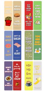 Funny food bookmark