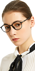round reading glasses for women anti UV readers