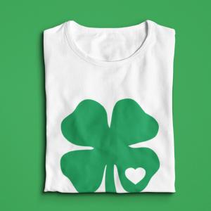 green long sleeve shirt love clover irish ireland  St. Patricks day outfit
