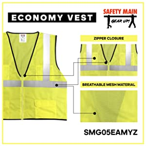 surveryor vest pockets zipper closure
