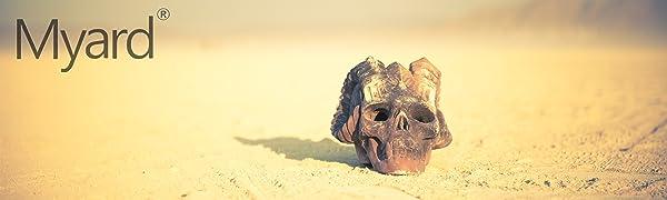 Myard Fireplace Fire Pit Skull Log Hearth Glass Burner Valve Millivolt