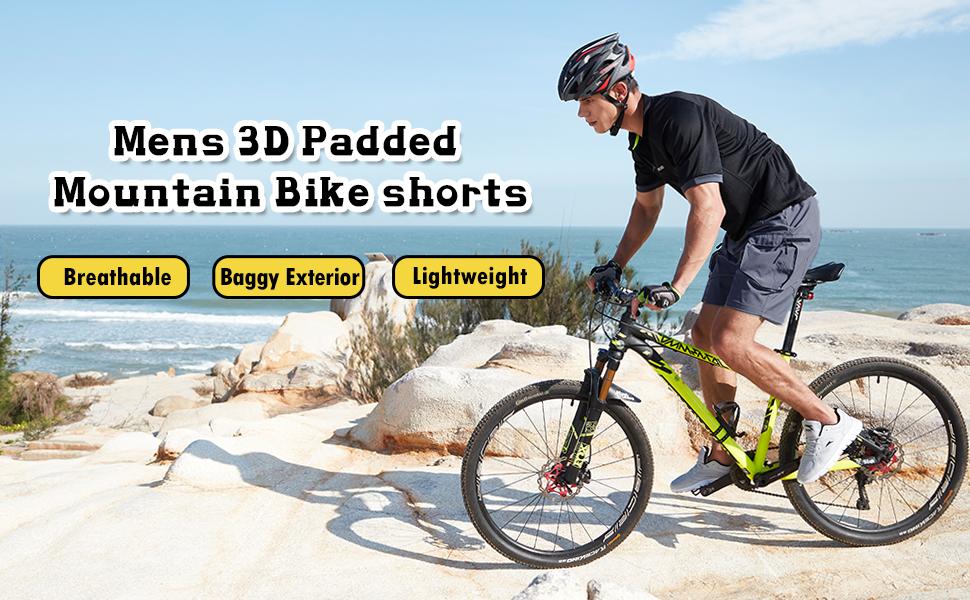 Mens 3D Padded Mountain Bike Shorts