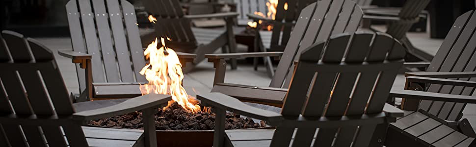 lava rock outdoor fire pit natural flame place essentials