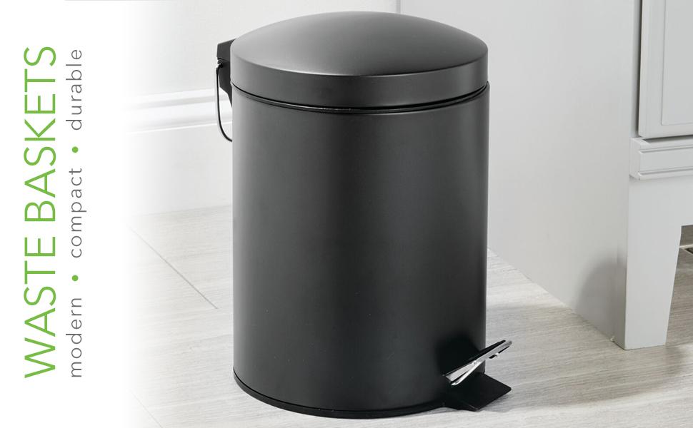 metal plastic bath room toilet wastebasket basket rubbish bin storage organizer house hold woman kid