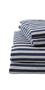 Striped Jersey Knit Sheets
