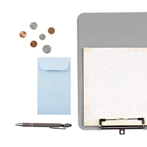 baby blue #6 coin envelope