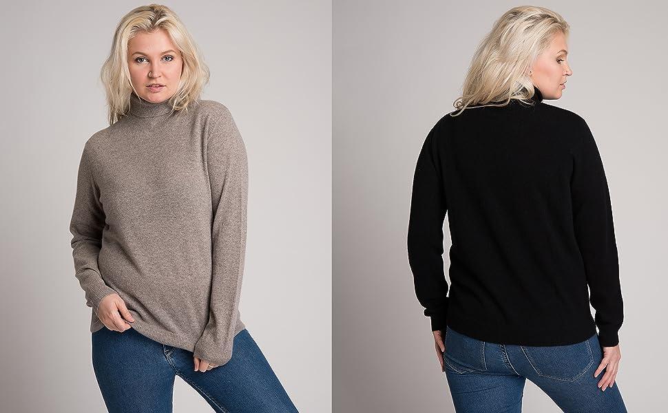 turtle neck cashmere sweater women