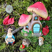 mini fairy garden fairies gnome collectible figurine set