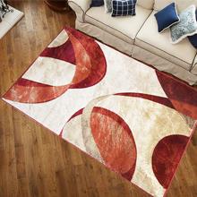 color red blue tan orange rug living room