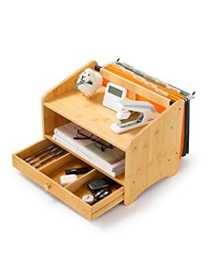 bamboo desk organizer letter organizer wood paper organizer desktop organizer with drawers