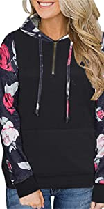 floral hoodies for women