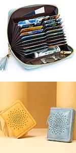 RFID Leather credit card holder wallet