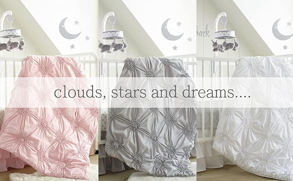 willow baby bedding pink grey white levtex baby crib set