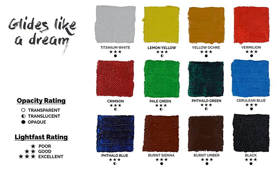 myartscape art paint acrylic swatches