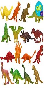 90PCS Dinosaur Tub Set | Mini Dinosaur Party Toys