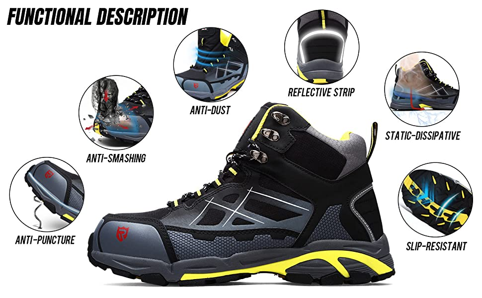 steel toe boots for men, mens steel toe cap shoes steel toe safety work shoes