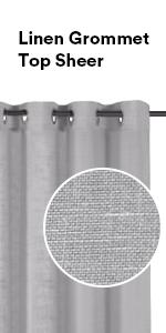 natural linen sheer curtains grommet top