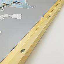 Magnetic wooden frame hanger.