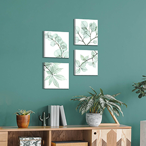 leaves canvas wall art