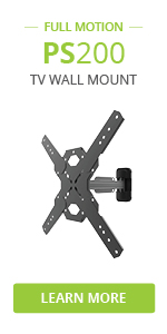 PS200 full motion tv wall mount