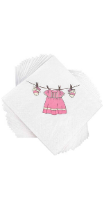 Napkins for girl baby shower