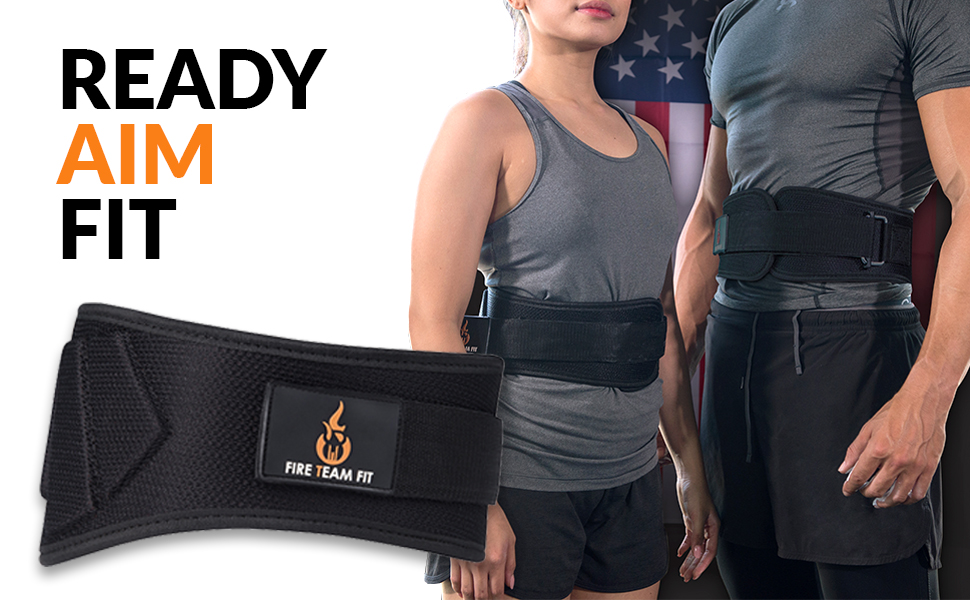 Fire Team Fit Weightlifting Weight Men Women 6 Inch Back Support Lifting Squat Deadlifting Belt