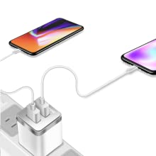 2.4amp plugbug world powerfast iphones 6ft usb charger port wall dual adapter plug chargers cube