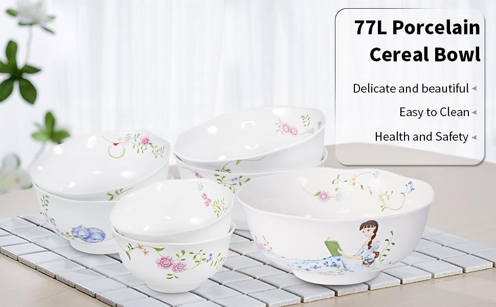 Porcelain Salad Bowls