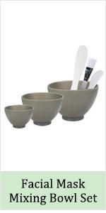 spa cosmetic face facial mask mud clay powder mixing silicone rubber bowl set spatula brush wash