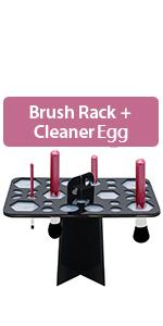 Makeup Brush  Drying Rack & Cleaner Egg