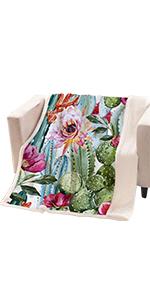 ARIGHTEX Cactus Blanket