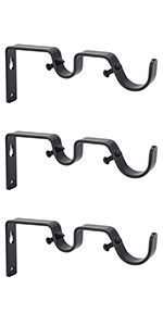 Ycolnaefllr Set of 3 Oil Rubbed Bronze Double Rod Brackets