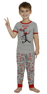 dr seuss boys pajamas boys cat in the hat pjs 2 piece set sleepwear double trouble