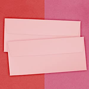 baby pink #10 business colored envelope