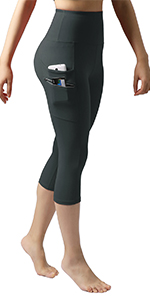 Dual pockets yoga capris