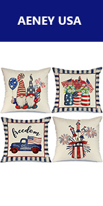 4th of July pillow covers