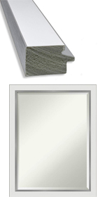 framed bathroom wall mirror