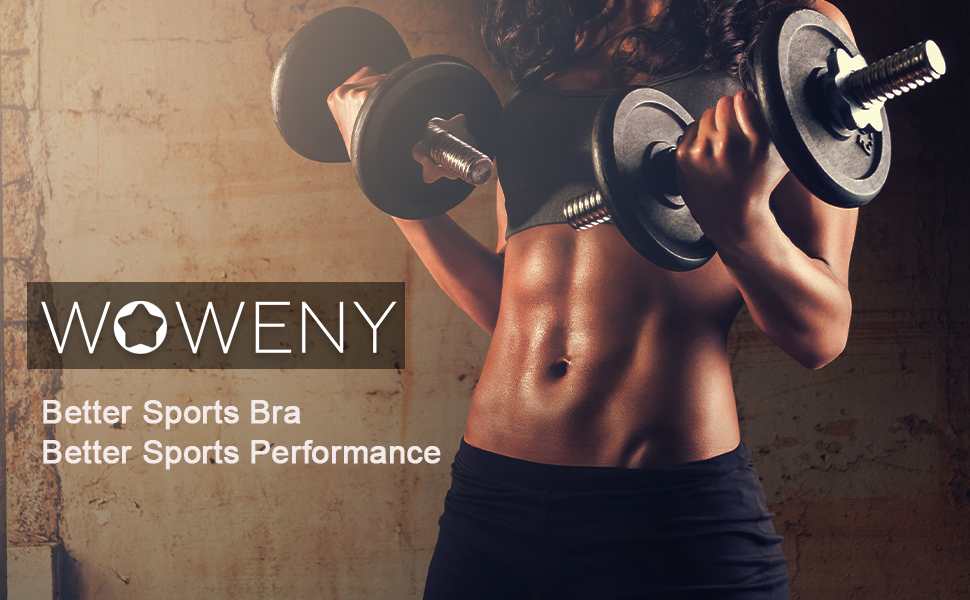 Sixport Sports Bras for Women Workout Built-Up Wirefree Padded Workout Yoga Gym Fitness Bra