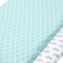 Baby sheets mint elephant