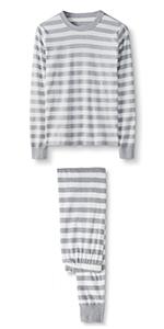 Adult Organic Cotton Long Sleeve Pajama Set