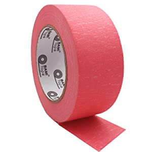 pink colored masking tape wide width adhesive paper tape art arts crafts painter painter's kit