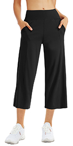 wide leg yoga capris for women