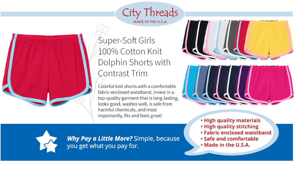 Mirawise Girls Athletic Shorts Play Soccer Sports Basketball Shorts 4-13Y