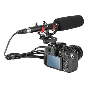 BOYA BY-C40 Shock Mount Holder Clip Camera Shoe for Shotgun Microphones