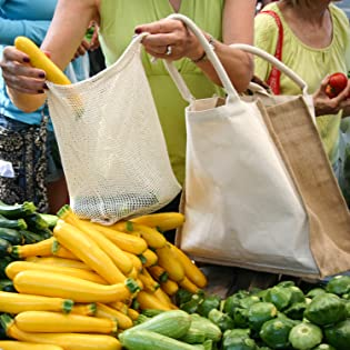 groceries vegetables biodegradable sustainable green cloth zero waste net zero bags totes washable