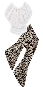lace top leoaprd pants