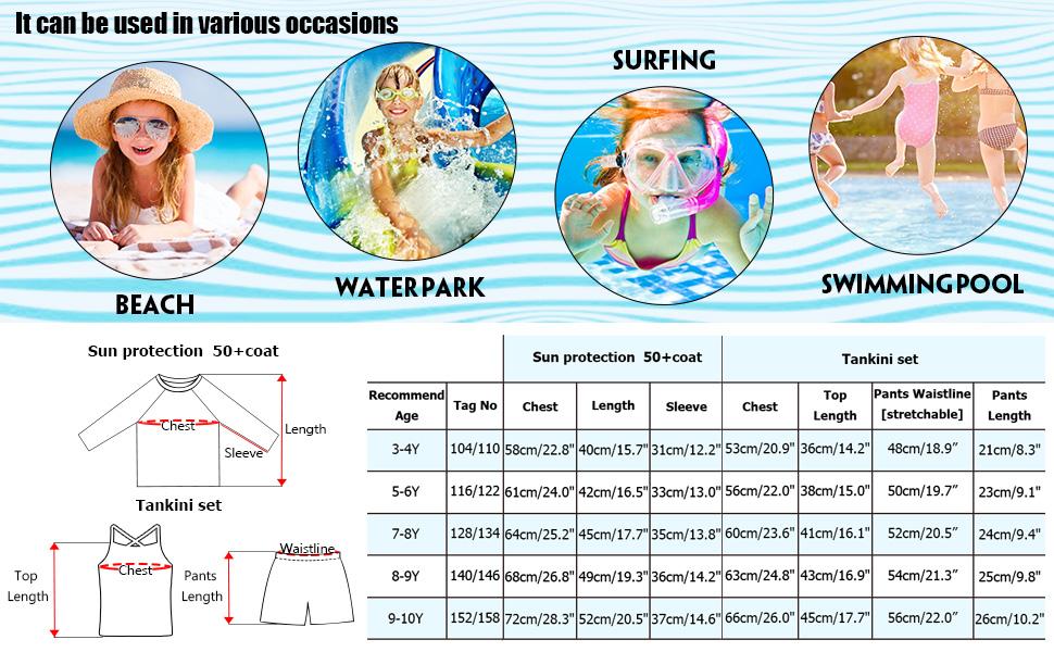girls spf swimwear