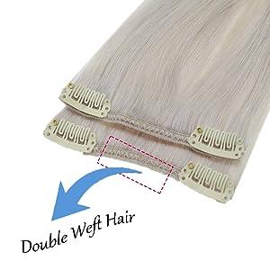 Double weft hair