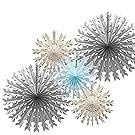 Gray white blue snowflakes