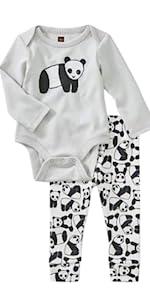 Tea Collection Baby Bodysuit, Panda Bear Design